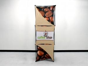 X1 2.5ft - 1x3 O Fabric Pop-Up Display