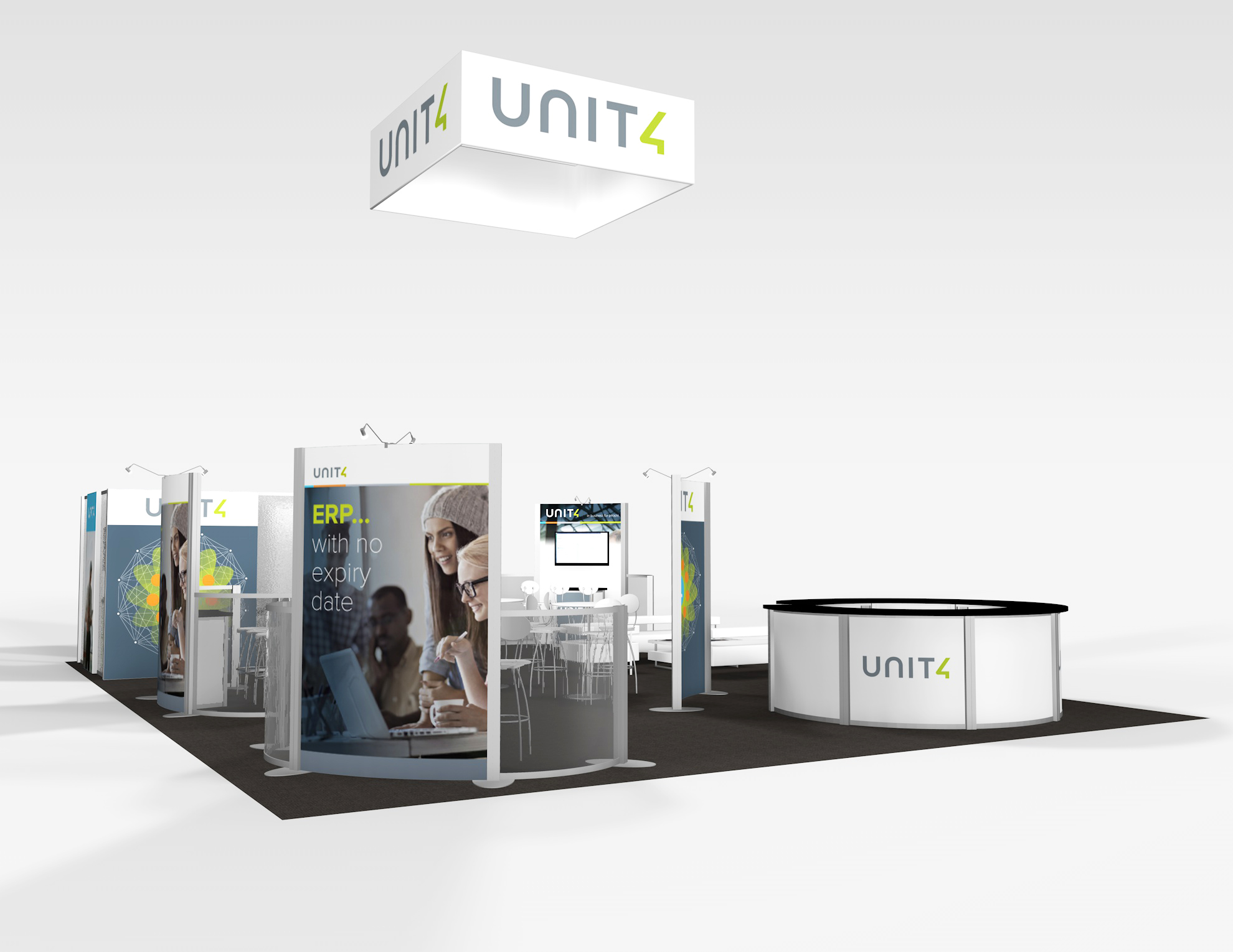 RE-9083 Rental Exhibit / 30' x 40' Island Trade Show Display – Image 2