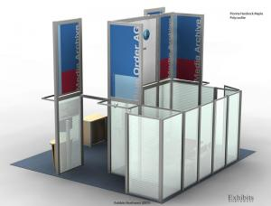 RE-9014 Rental Exhibit / 20� x 20� Island Trade Show Display � Image 2