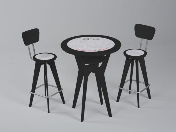 OTM Portable Table and Chairs -- Black Version