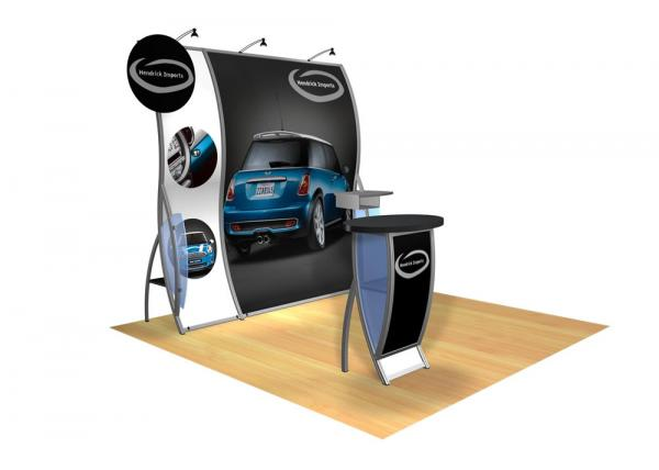 Perfect 10 VK-1505 Portable Hybrid Trade Show Display -- Image 3 (circle header)