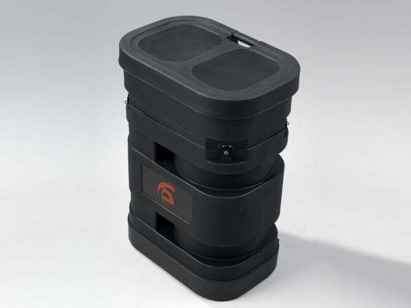 "Portable Roto-molded Case with Wheels (28"" W x 19"" D x 38"" H)"
