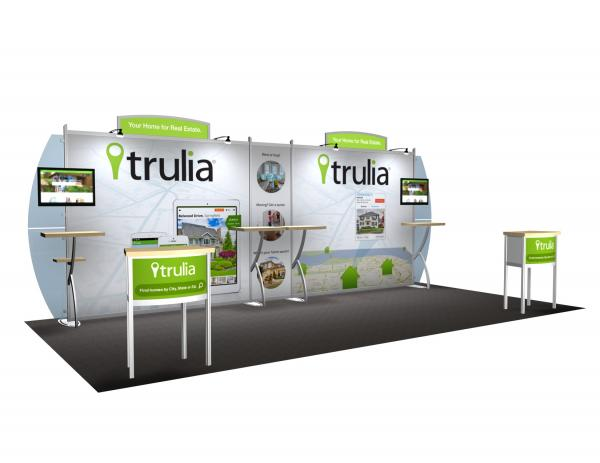 VK-2011 Portable Hybrid Trade Show Exhibit -- Convex Wings